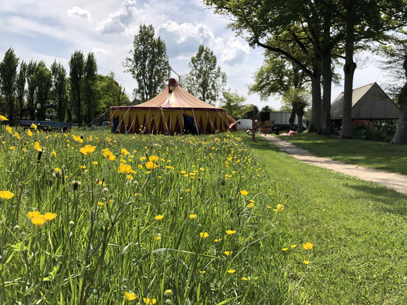 Le chapiteau de cirque, thème de l'année 2019 de l'école Saint Jean Baptiste à Saint Aubin du Pavail Châteaugiron