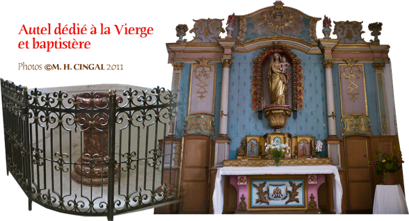 autel vierge baptistere