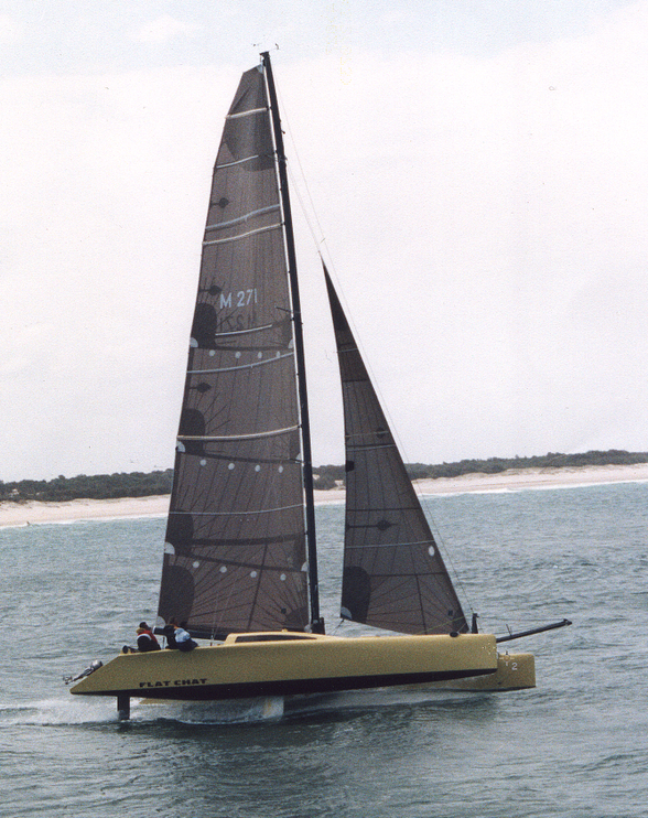 Catamaran Flat chat under the command of Jamie Morris