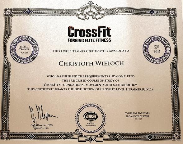 CROSSFIT Level One Trainer Ausbildung