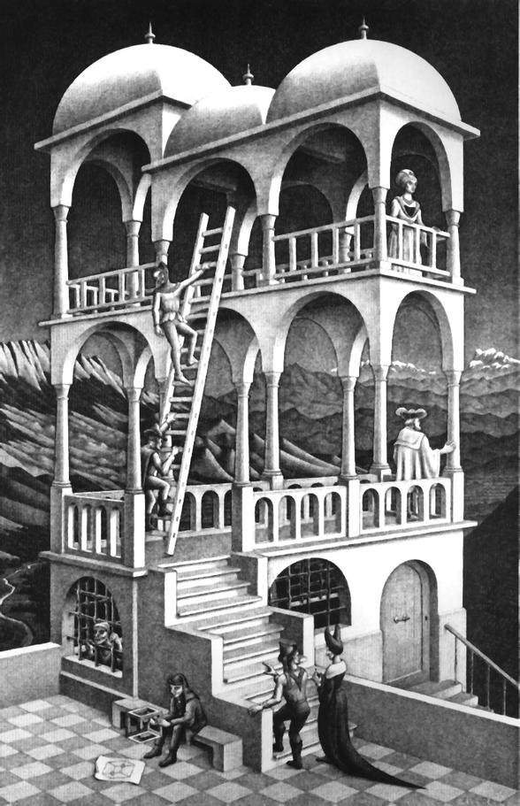 M. C. Escher; Belvedere, Mai 1958