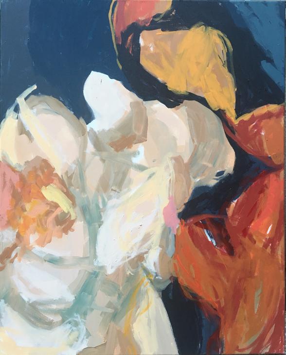 CRISS CROSS 5 , 100x80cm , acrylic on canvas