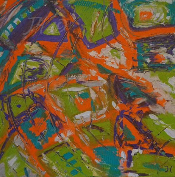 JH0F: Acryl auf Leinwand, Abmessungen [cm]: 60x60x4,5