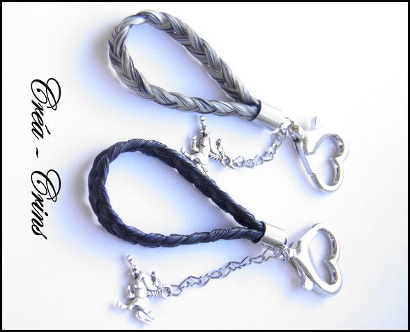 porte clefs crin cheval bijou bracelet poney accessoires