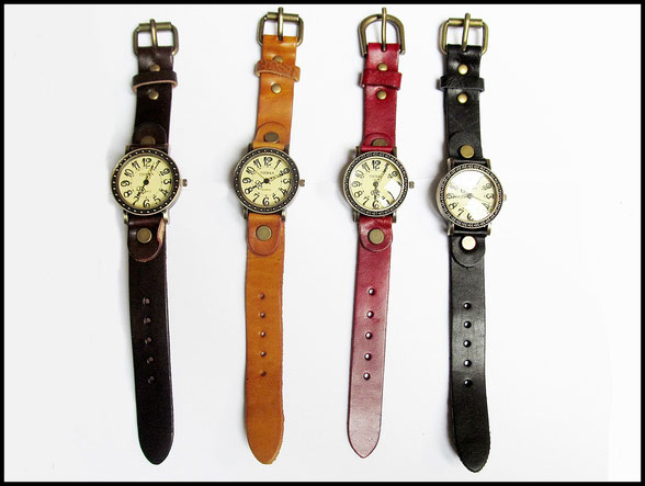 Rennfahreruhr Unisex Armbanduhr mit Lederarmband