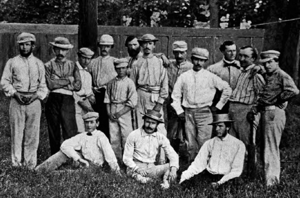 St. George Cricket Club a Hoboken, New Jersey, 1861. (Foto da SABR.org)