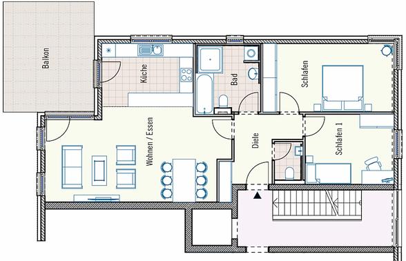 Eigentumswohnung mit Balkon - Lambertin Immobilienconsulting