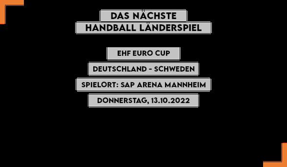 Handball Länderspiel 2021: Deutschland - Brasilien in Tokio
