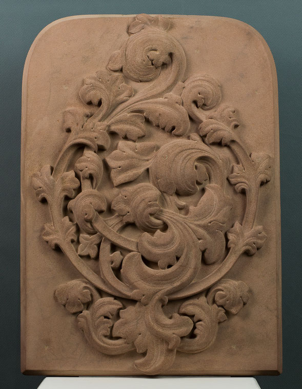 Barockes Sandsteinrelief aus Mainsandstein gehauen, 2015, ca. 65x40cm