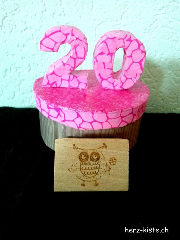 Geschenkbox 20. Geburtstag