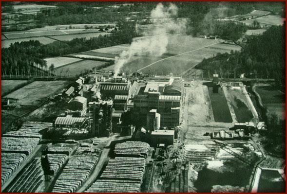 Une usine de tranformation du bois en cellulose - Ph. Coll. M&L NICOLET