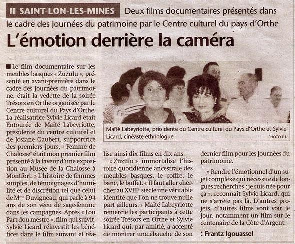 sylvie licard, tanoc productions, orthe, landes, aquitaine, gascogne, film, regionalisme, sudouest, chalosse, bas-adour