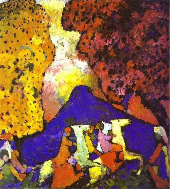 《青い山》(1908-1909年)