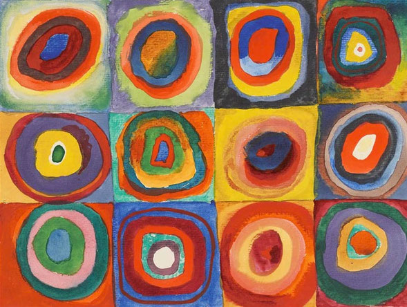 「Squares with Concentric Circles」(1913年)