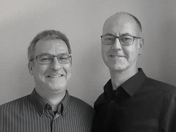 Hier ist ein Foto von Henning Niebuhr und Till Weber.