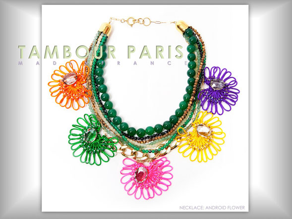 Necklace ANDROYD FLOWER(Col:vif)     photo: Mary Erhardy