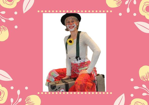 Clownin Bina Blümchen im Raum Ludwigsburg/Stuttgart
