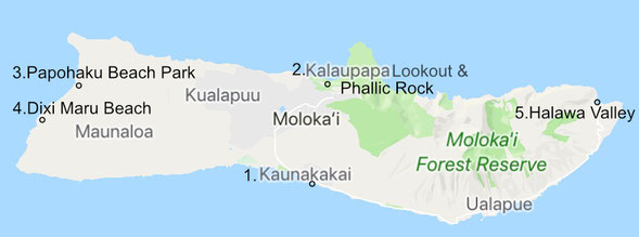 hawaii-molokai-map-route