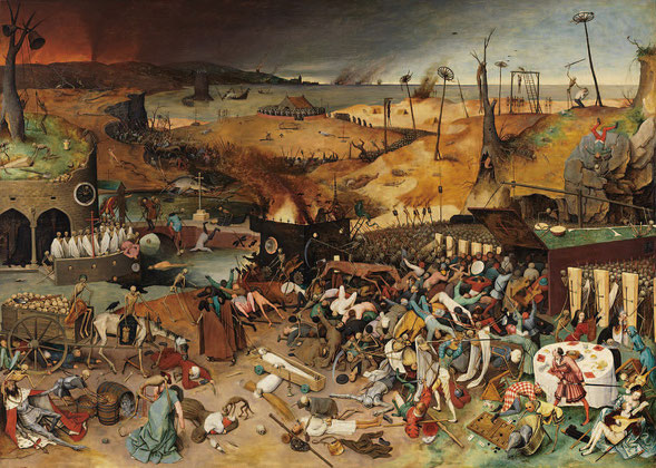 ピーター・ブリューゲル「死の勝利」1562 年頃 117.4×162 油彩・パネル(プラド)
