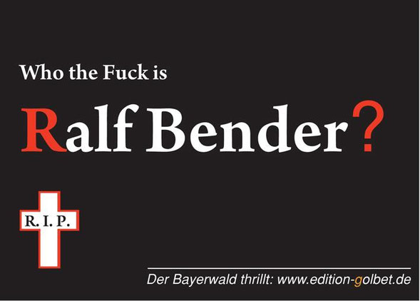 Postkarte: Who the Fuck is Ralf Bender