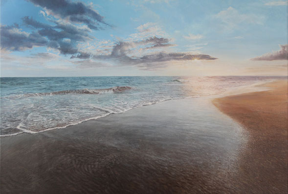 Zonsopkomst boven zee  - nu te zien bij Galerie Montulet