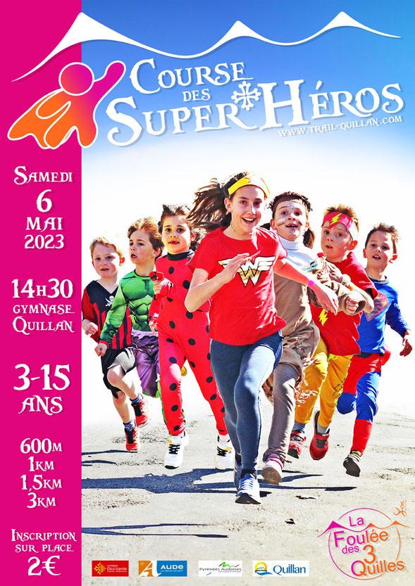 Course des Super Héros - Trail Quillan 2018