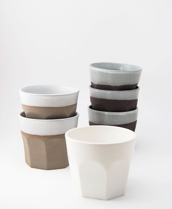 Ceramic coffee tumblers