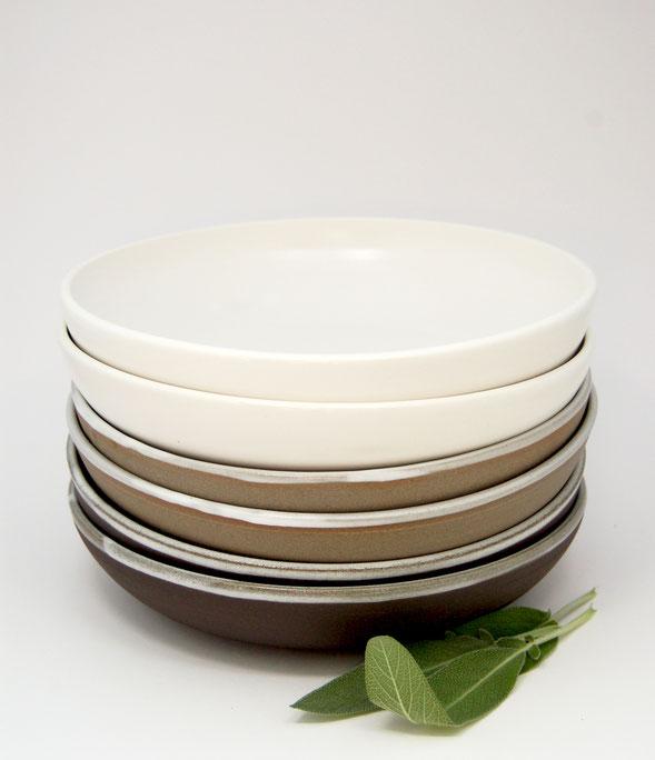 Hand-turned ceramic bowls