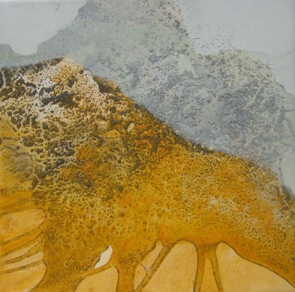 Aus der Reihe: Berge aus Acryl, 30 x 30 cm, Urgesteinsmehl, Acrylfarbe und Pigmente