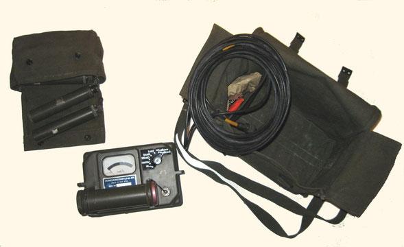 Geiger Muller stralingsmeter zoals gebruikt bij de BB en de krijgsmacht.