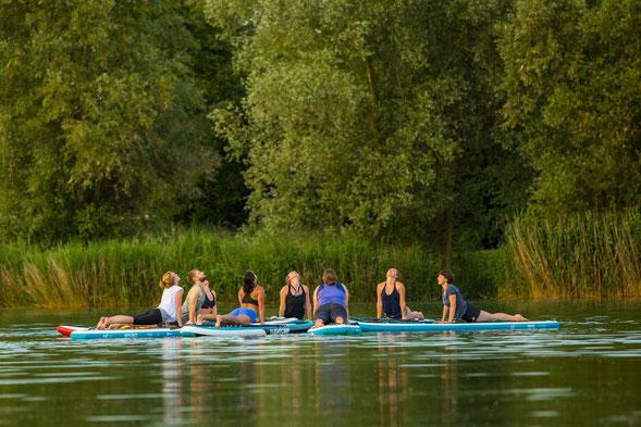 SUP Yoga, Stand-Up Paddling Yoga, Outdoor, Augsburg, Stuttgart, München, Ulm, Bayern