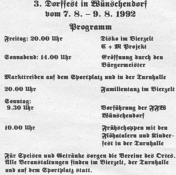 Bild: Wünschendorf Erzgbirge Dorffest 1992