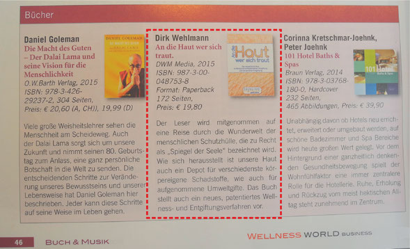 "Fachmagazin Wellness-World-Business"" Ausgabe 2/2015"