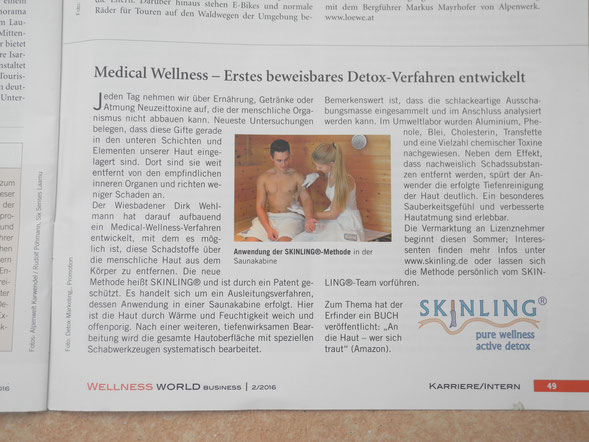 "Fachmagazin Wellness-World-Business"" Ausgabe 2/2016"