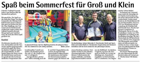 Bericht im Sonntagsblatt vom 12.08.2012