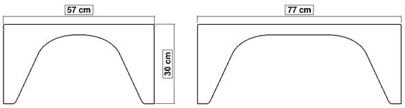 Dimensions de la table basse flashy LumYa proposée en 8 couleurs.