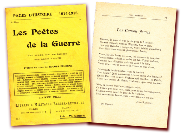 Jean rameau cauneille pourtaou gloriette  poete lyre haute verdun avocourt gaas treizain labaigt