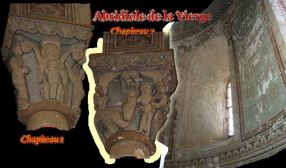 chapiteau, vierge, sorde, abbaye, absidiole, orthe