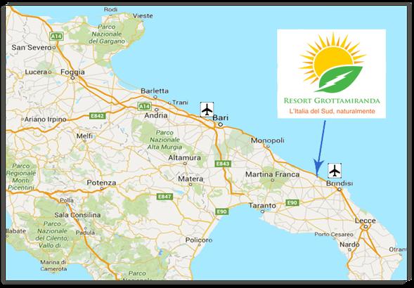 Voyage naturiste - Carte des Pouilles