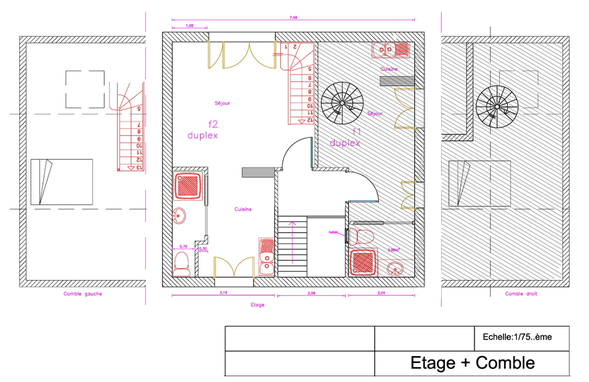 Plans gîte Le Contemportain