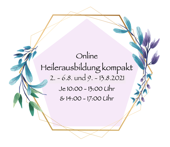online Heilerausbildung kompakt 2. - 13.8.2021