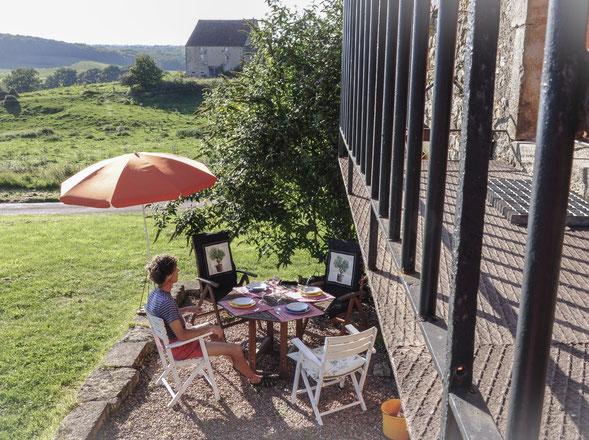 mini terras met maxi uitzicht bereikbaar vanuit slaapkamer én vanaf balkon woonkamer