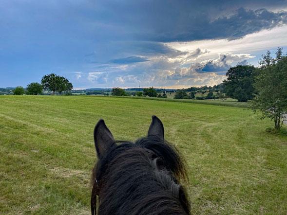 Schon wieder Gewitterwolken im Anmarsch