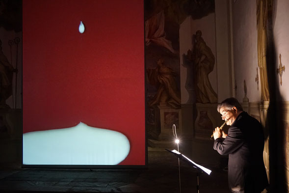 Roberto Fabbriciani, Die Floete und das Bild, compositions by Luca Lombardi, MMKK time and person Regina Hubener