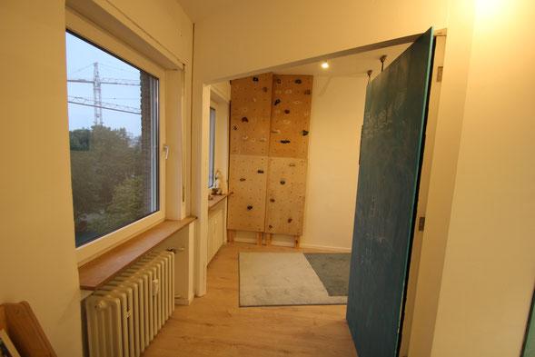 Umbau Kinderzimmer, Kletterwand Kinderzimmer