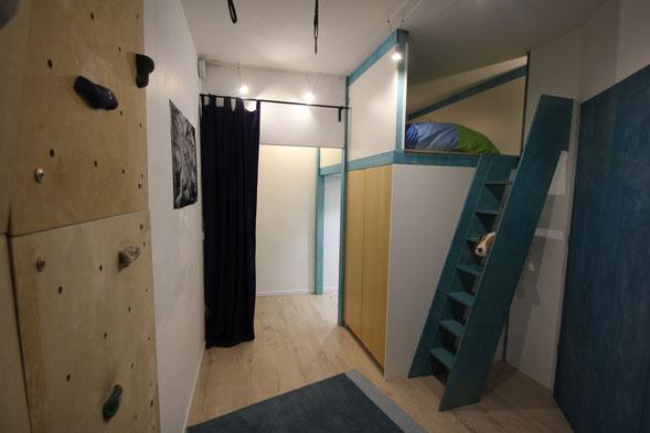 Kinderzimmer teilen, Einbau Zwischenetage
