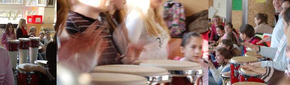 Unterricht mit unseren Trommeln
