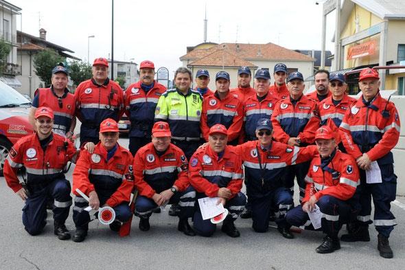 """una nostra delegazione impiegata per la gara ciclistica a """"Molinello"""" CESANO M."""