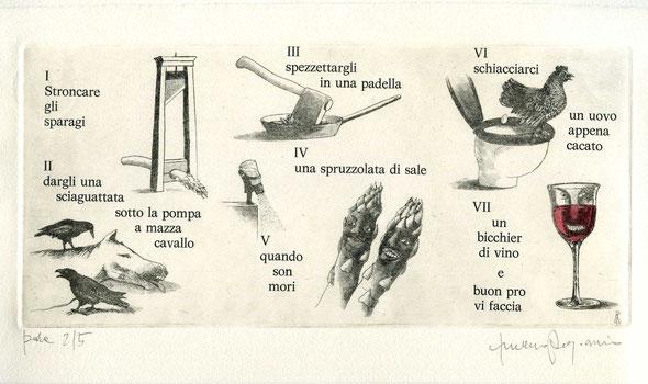 acquaforte originale di Luciano Ragozzino numerata e firmata - lastra 128x275 mm