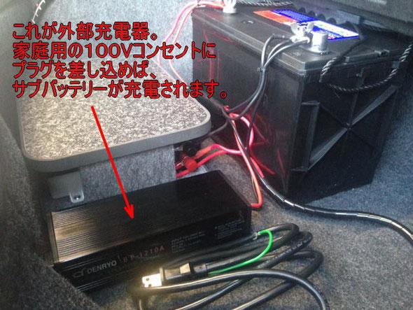 ミニバンの車中泊にサブバッテリーキットはいかがでしょう?